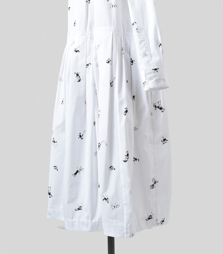 R & D.M.Co-(オールドマンズテーラー)ブリキンプリントスタンドカラーワンピースBRIKIN PRINT STAND COLLAR DRESS 3411