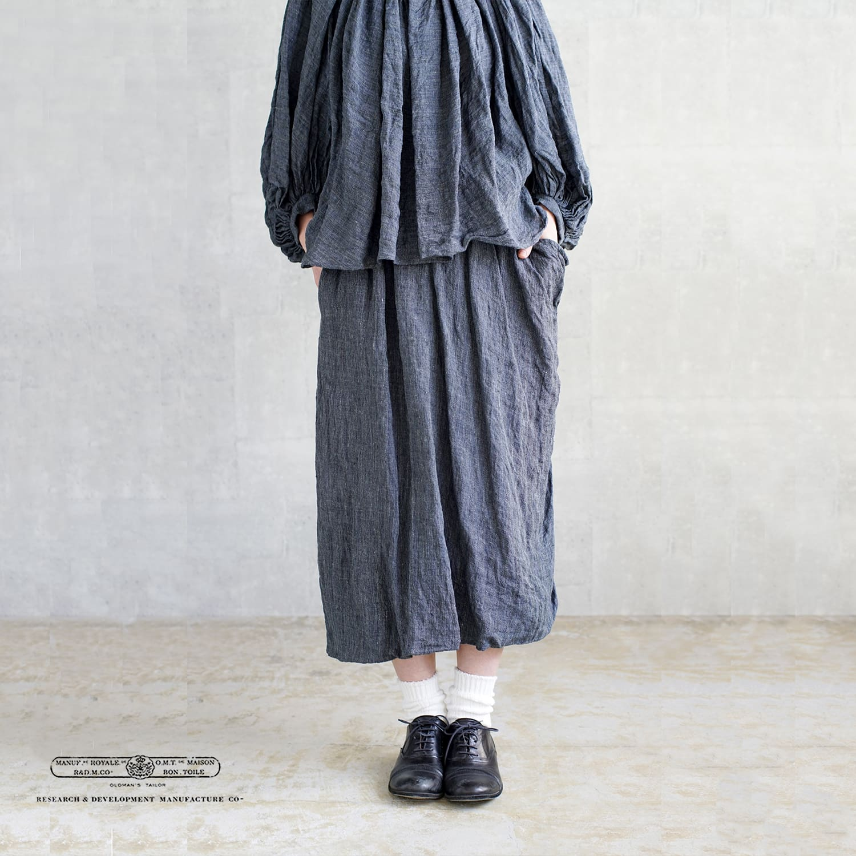R & D.M.Co-(オールドマンズテーラー)リネントップアシンメトリーバルーンスカート 3430