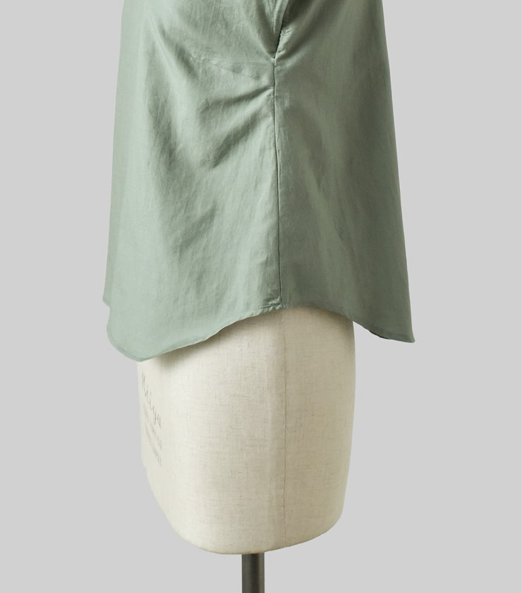 R & D.M.Co-(オールドマンズテーラー)シルクコットンラウンドカラーシャツ 3478