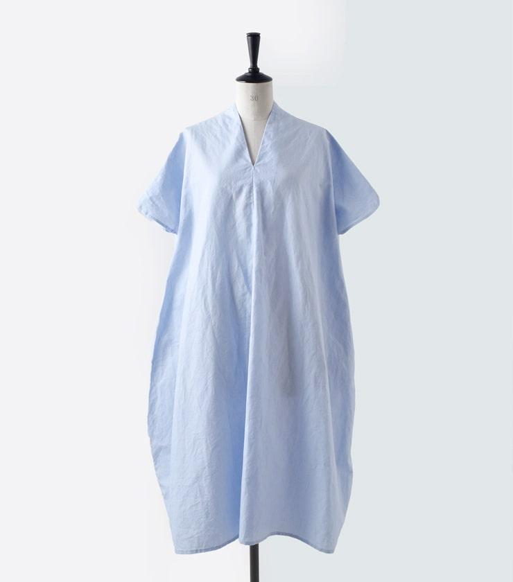 R & D.M.Co-(オールドマンズテーラー)コットンラミーVネックリボンドレス 3569