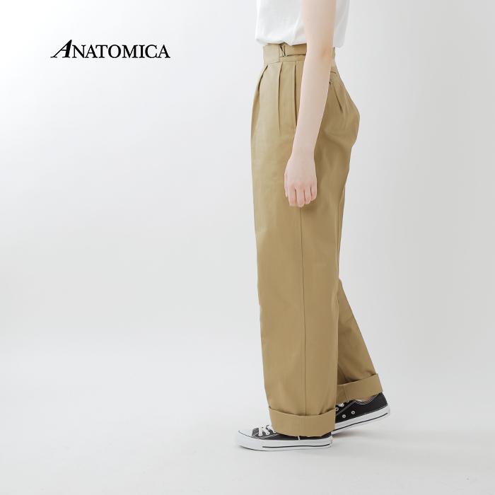 """ANATOMICA(アナトミカ)フロントタックワイドストレートパンツ""""ROYAL MARINE PANTS"""" 530-521-09"""