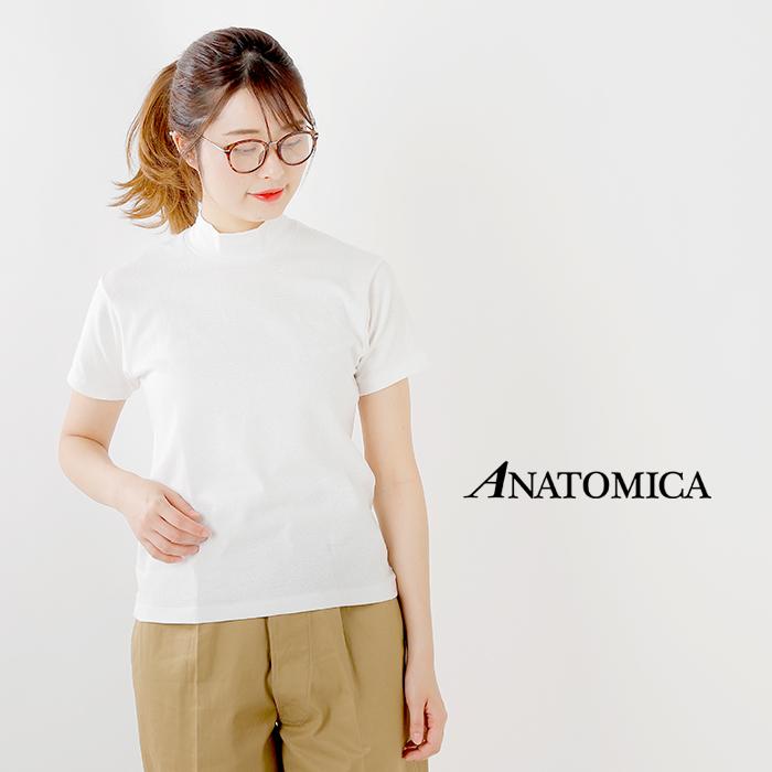 ANATOMICA(アナトミカ)モックネックショートスリーブTシャツ 530-521-12