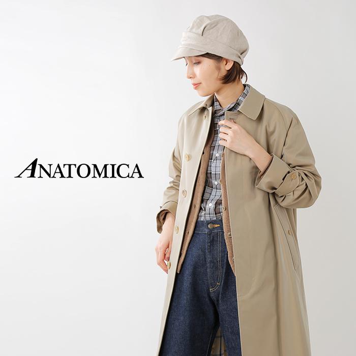 ANATOMICA(アナトミカ)コットンギャバジン シングルラグランワイドコート 530-521-25