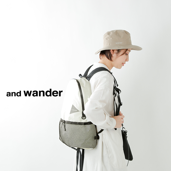 "and wander(アンドワンダー)コーデュラナイロン防水デイパック20L""20L daypack"" aw-aa990"