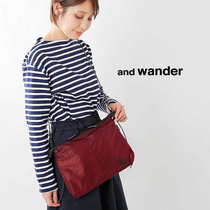 and wander(アンドワンダー)silサコッシュ aw91-aa920