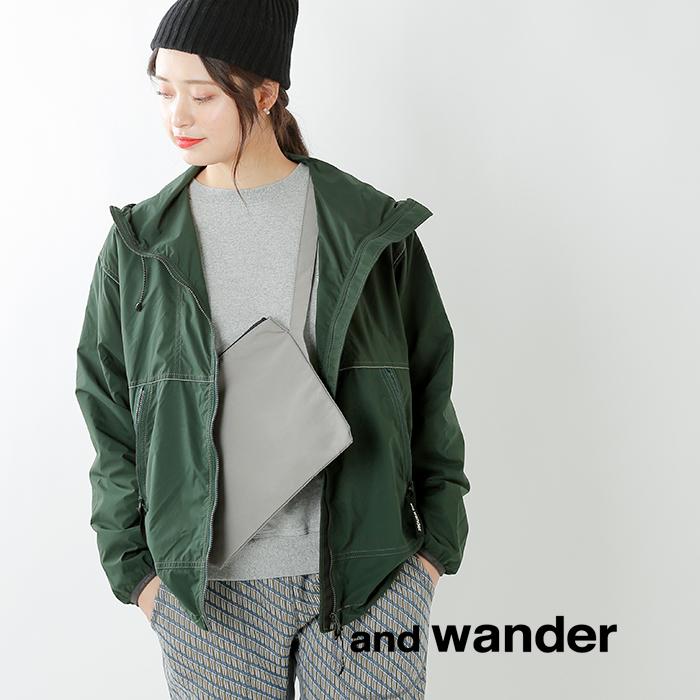 and wander(アンドワンダー)PERTEXウインドジャケット aw91-ft758