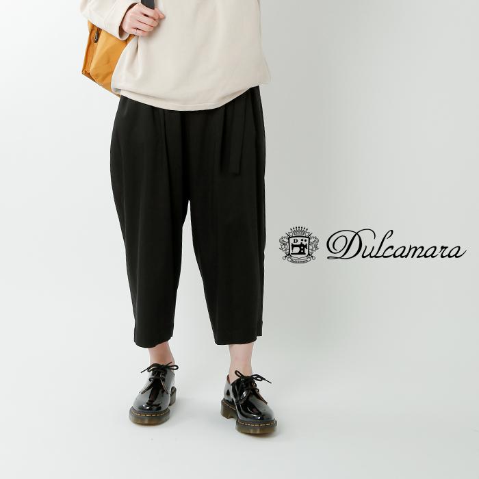 Dulcamara(ドゥルカマラ)C/Nサテンスローブジャケット d119-j211Dulcamara(ドゥルカマラ)C/Nサテンベルトワイドパンツ d119-p216