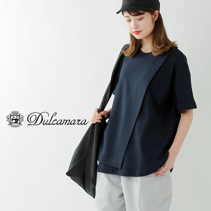 Dulcamara(ドゥルカマラ)コットンワッフルレイヤードTシャツ d119-t886