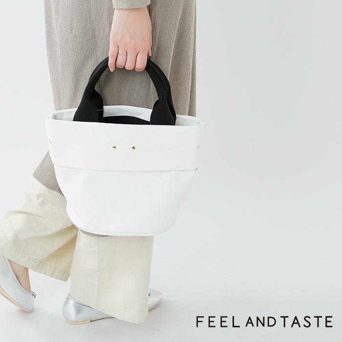 "FEEL AND TASTE(フィールアンドテイスト)コットン帆布ミニハンドバッグ""POT mini"" f071c391"