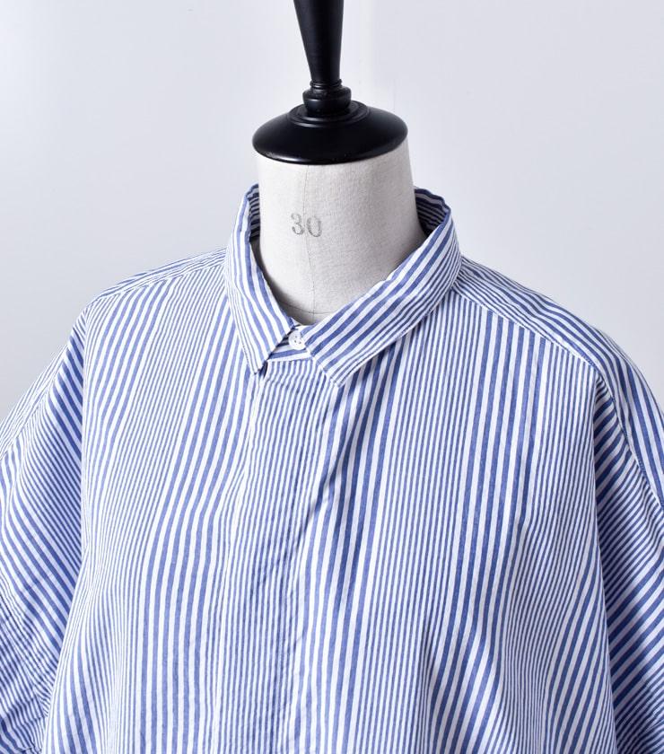 "TOUJOURS(トゥジュー)ワイドシャツドレス""Short Sleeve Wide Shirt Dress"" km30td02"