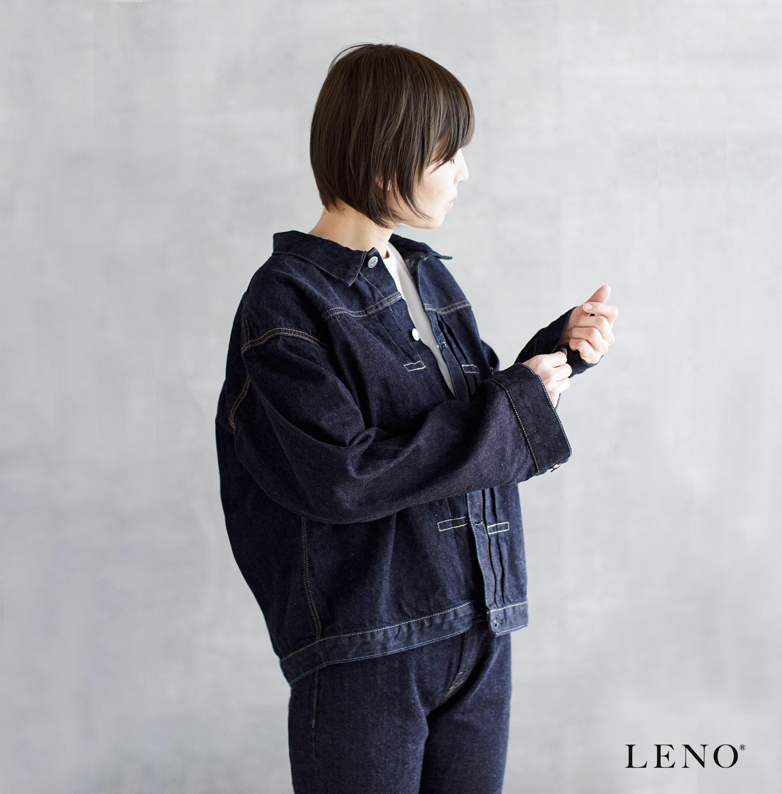 "LENO(リノ)ビッグデニムトラッカージャケット""BRENDA"" h2002-jj003"