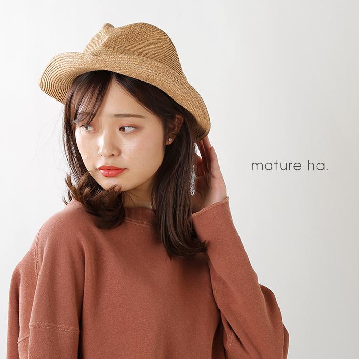 """mature ha.(マチュアーハ)aranciato別注 細グログランリボンボックスハット""""BOXED HAT 6.5cm brim"""" mbox-105-thin"""