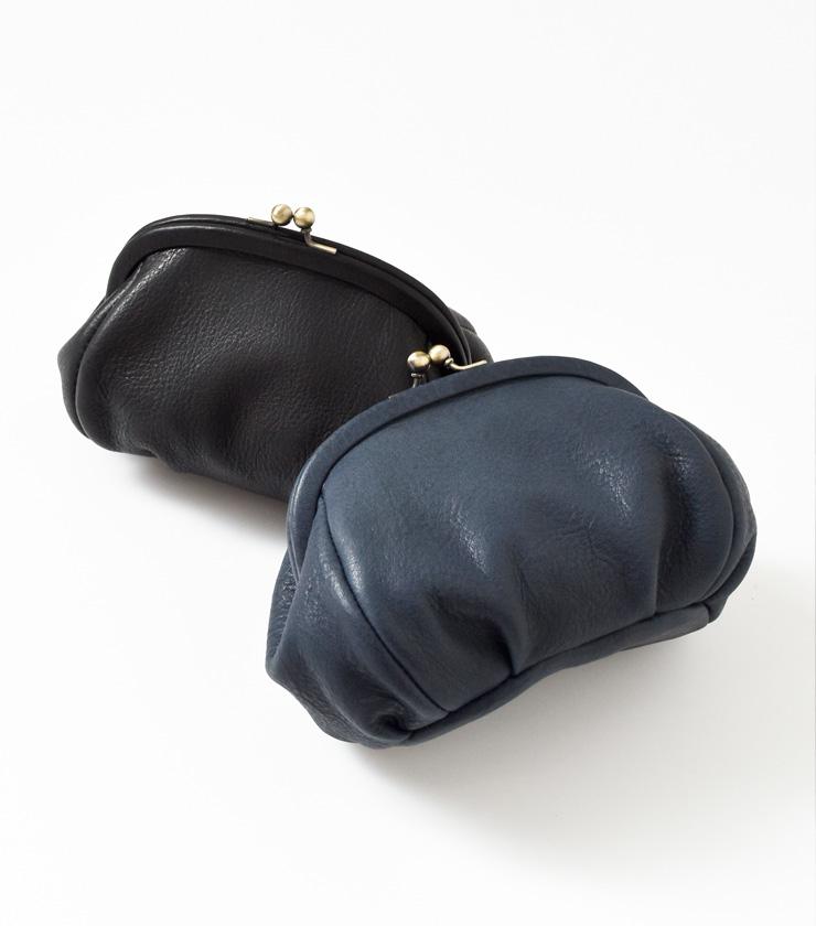 Yammart(ヤマート)カウレザーがま口ポーチ plain-gama-pouch
