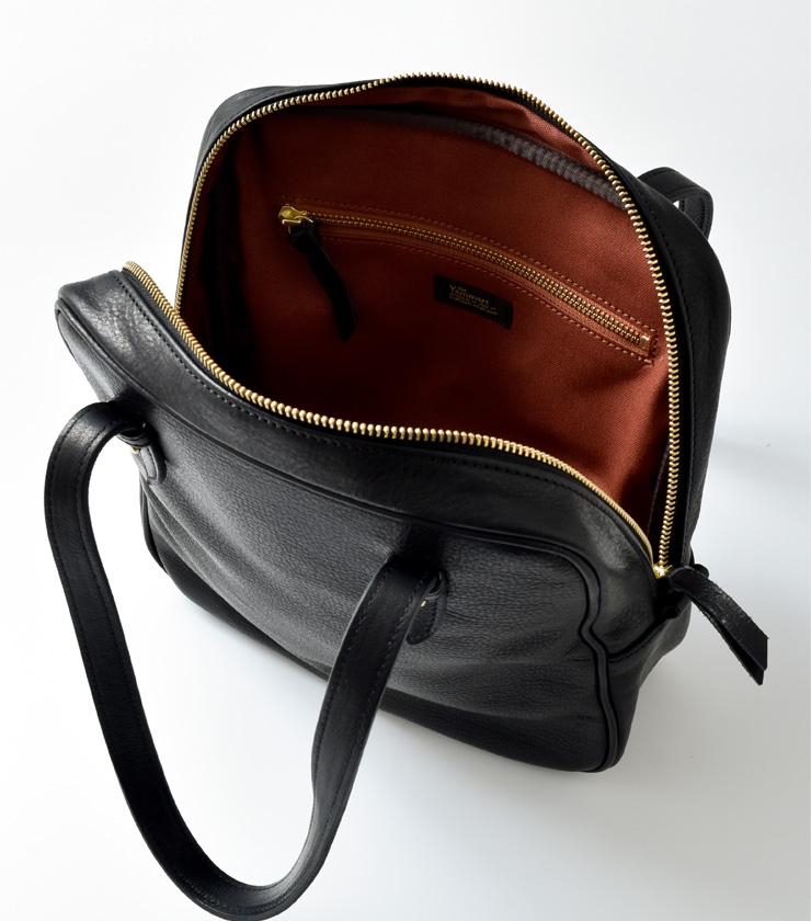 Yammart(ヤマート)カウレザースクエアハンドバッグ square-hand-bag