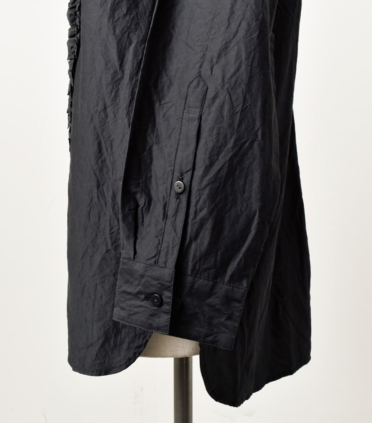 """TOUJOURS(トゥジュー)バンドカラーフリルシャツ""""Band Collar Frill Shirt"""" tm30gs01"""