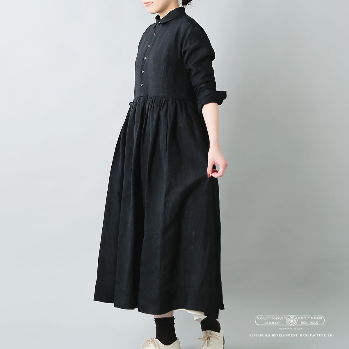 R & D.M.Co-(オールドマンズテーラー)リネンオーバーサイズシャツドレス 4066