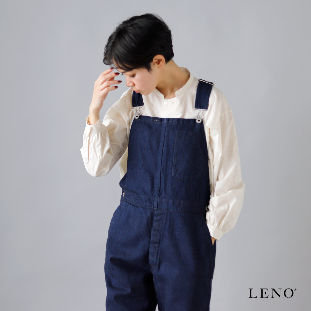 LENO(リノ)セルヴィッチデニムオーバーオール l2001-pt005