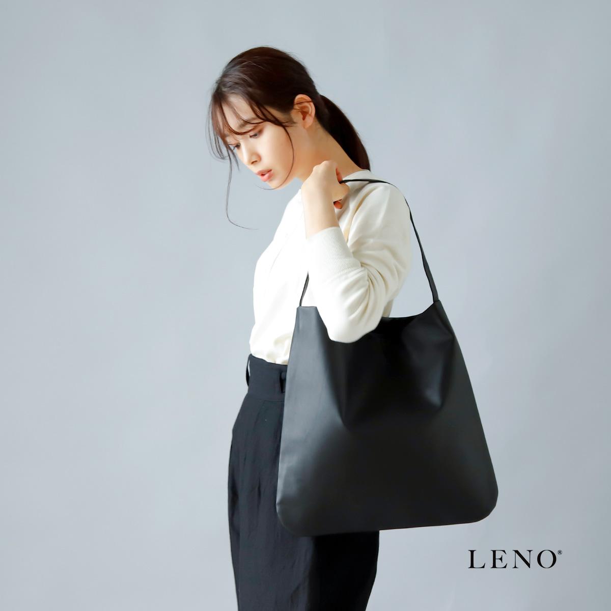 LENO(リノ)iroma別注 カウレザーワンハンドル ミディアムトートバッグ leno-ac008