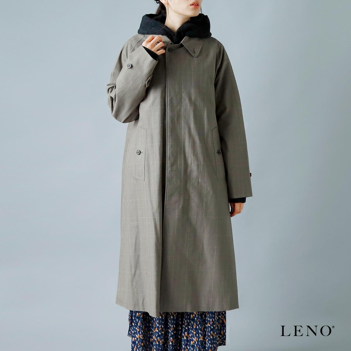 "LENO(リノ)オリジナル強撚ギャバジンコットンバルカラーコート""BAL COLLAR COAT"" leno-co003"