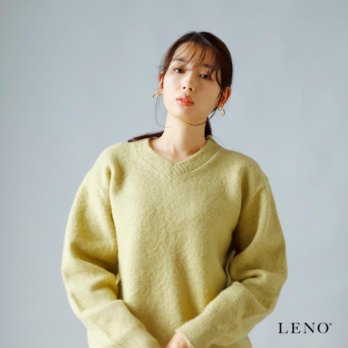 LENO(リノ)アルパカウールブラッシュドセーター leno-k004