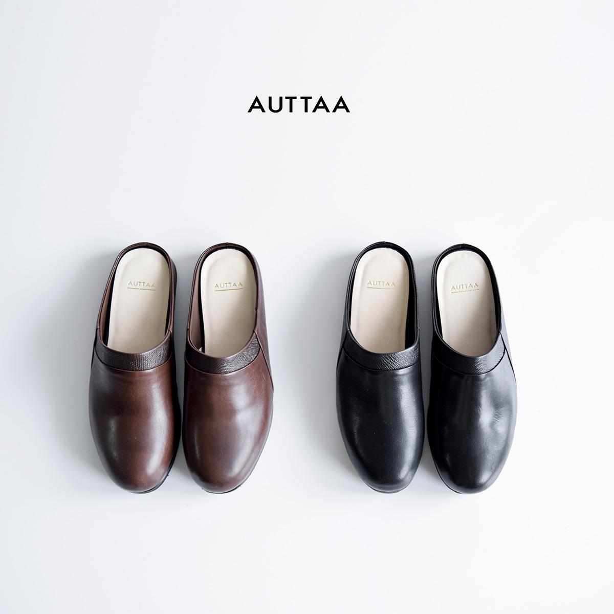 "AUTTAA(アウッタ)ナッパレザースリッパルームシューズ""Room Shoes III"" room-shoes3"