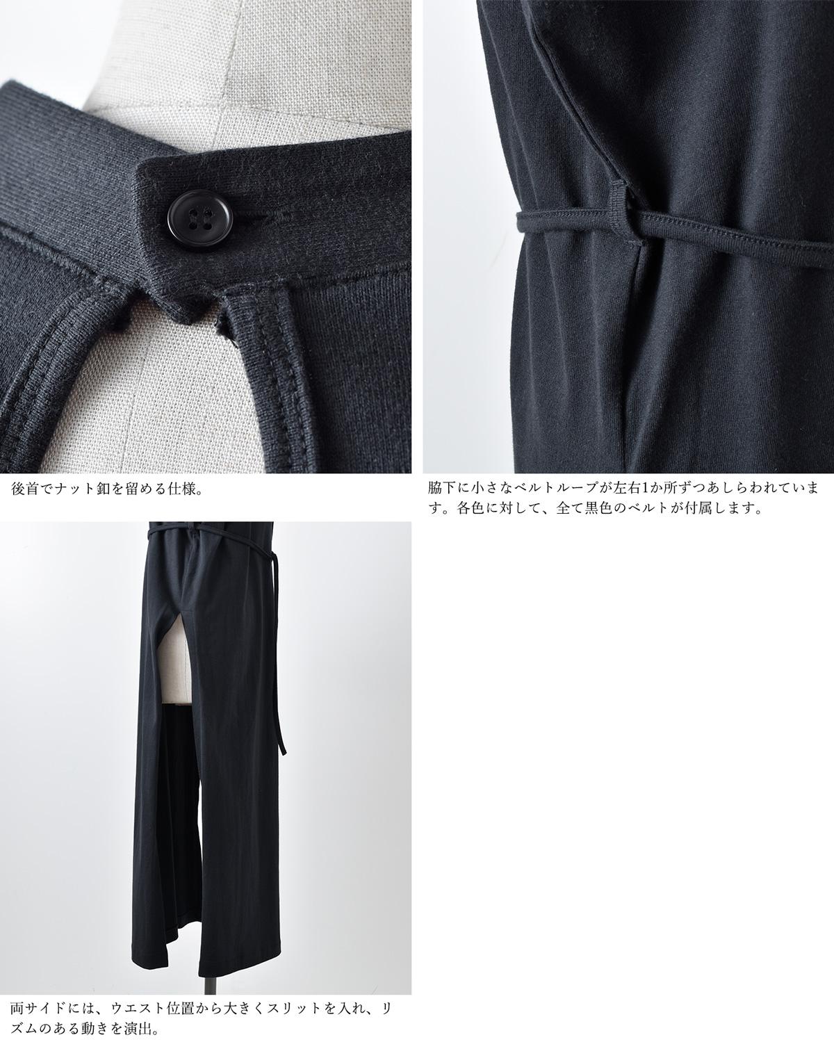 THE HINOKI(ザ ヒノキ)オーガニックコットンスタンドアップカラースリットドレス th21s-40