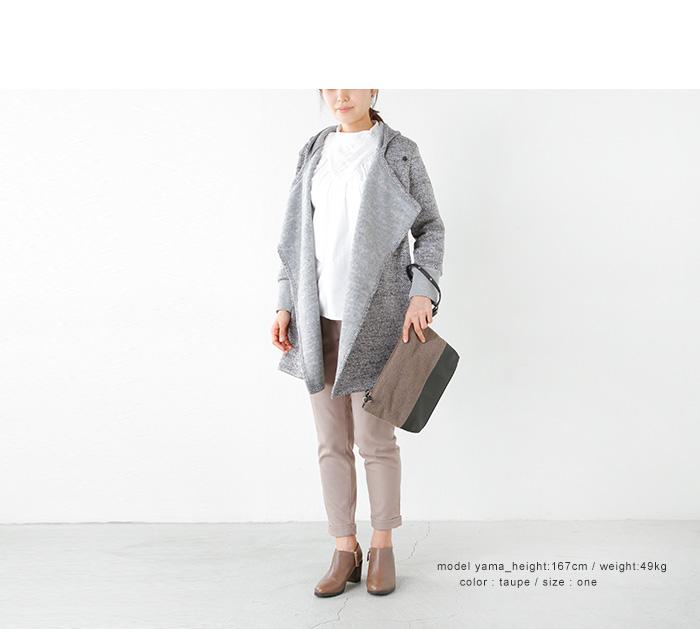 TERESA CAMBI(テレサカンビ)フェルト×レザーバイカラー2wayポシェット pochette