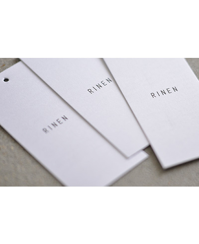 RINEN(リネン)20/1オーガニック天竺 半袖Uネックプルオーバー 11609