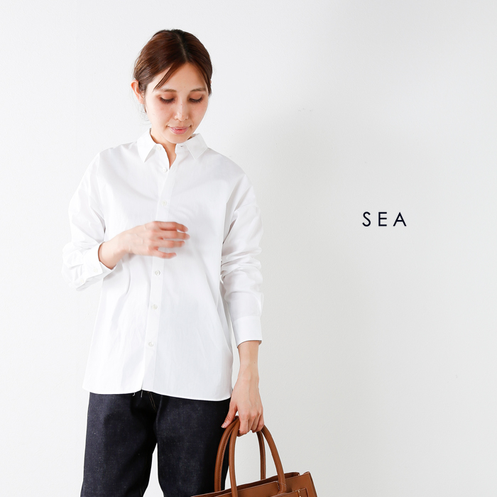 SEA(シー)ブロードハンドステッチオーバーシャツ110316131