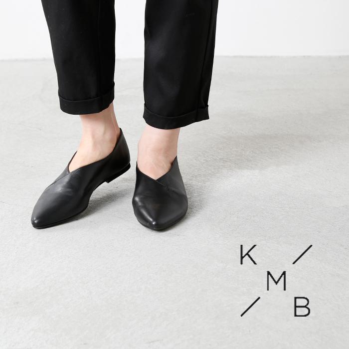 KMB(ケーエムビー)ポインテッドトゥレザーパンプス a1445