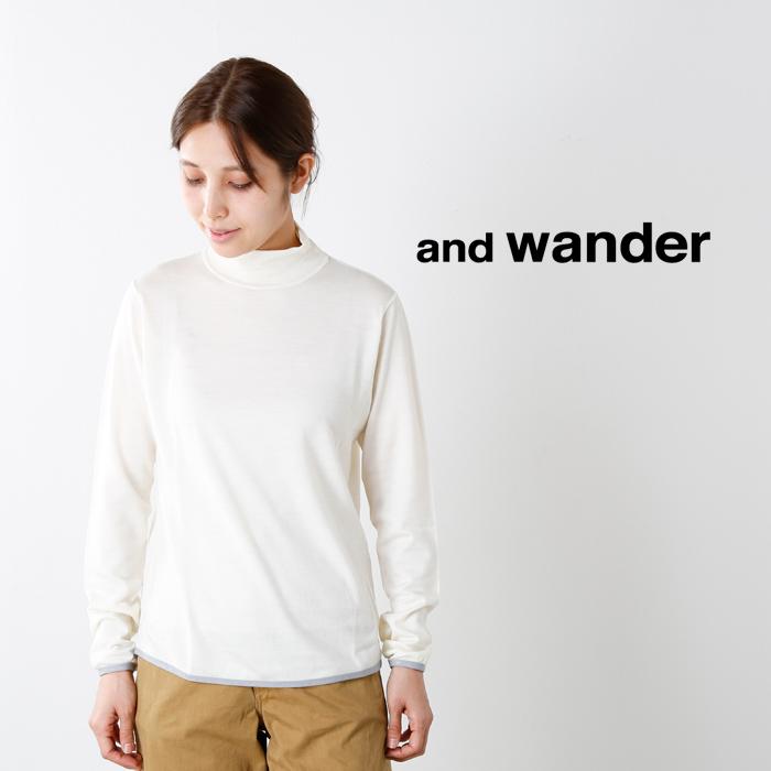 andwander(アンドワンダー)ウールハイネックTaw73-jt008