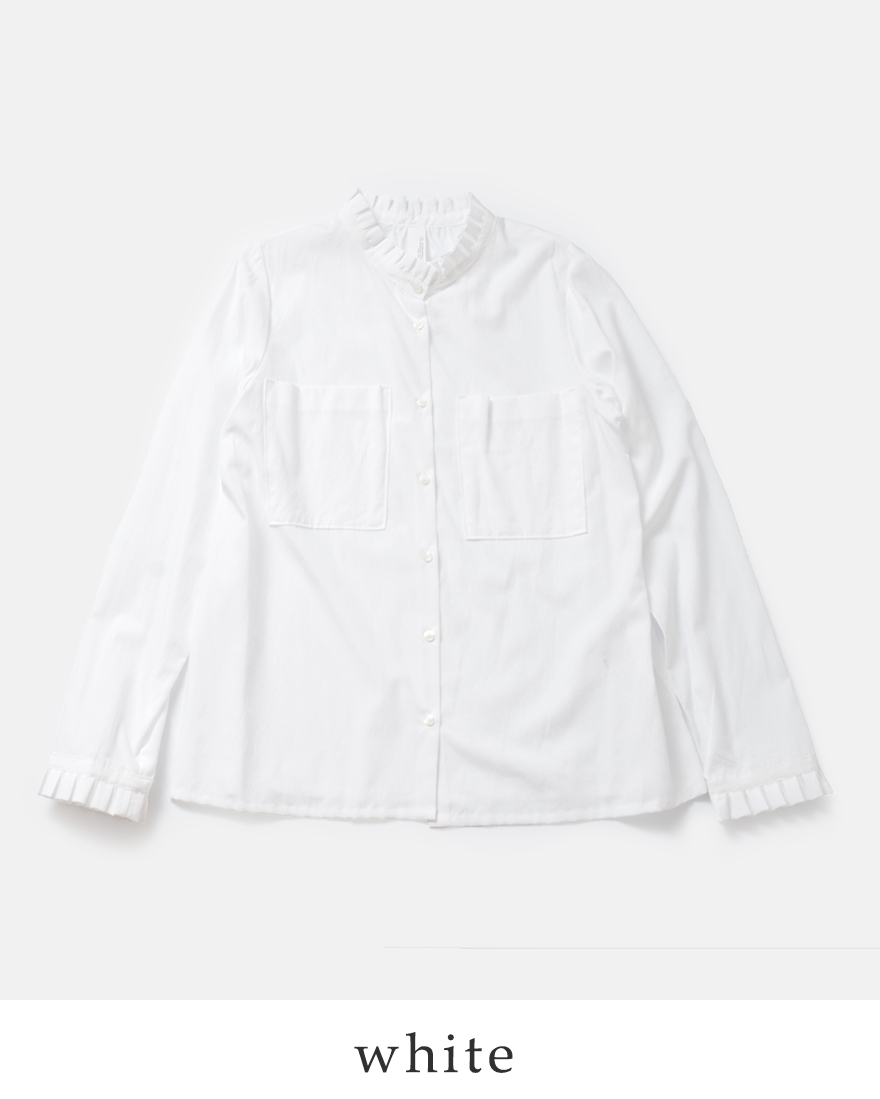 "kelen(ケレン)プリーツカラーフロントポケットシャツ""Tow"" lkl17fbl1"
