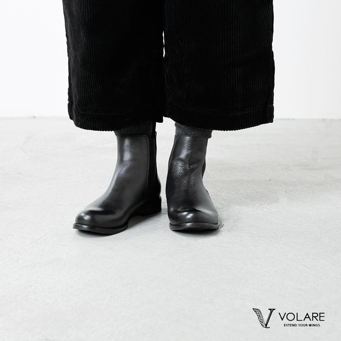 """volare(ヴォラーレ)カーフレザーサイドゴアブーツ""""MAXX-CALF"""" maxx-calf"""