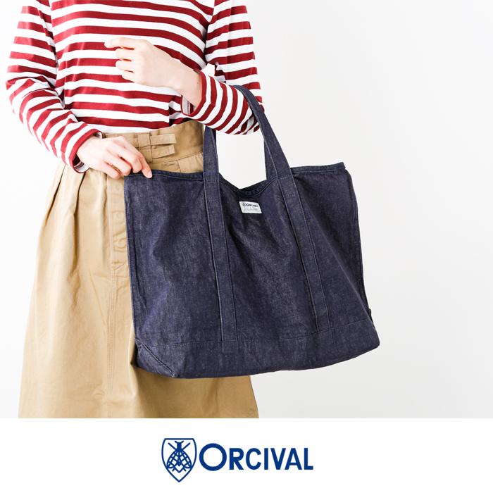 ORCIVAL(オーチバル・オーシバル)デニムトートバッグrc-7104hdn-dnh