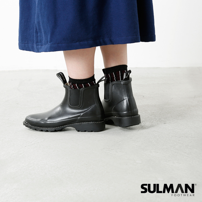 sulman(スルマン)サイドゴアショートラバーブーツs3211