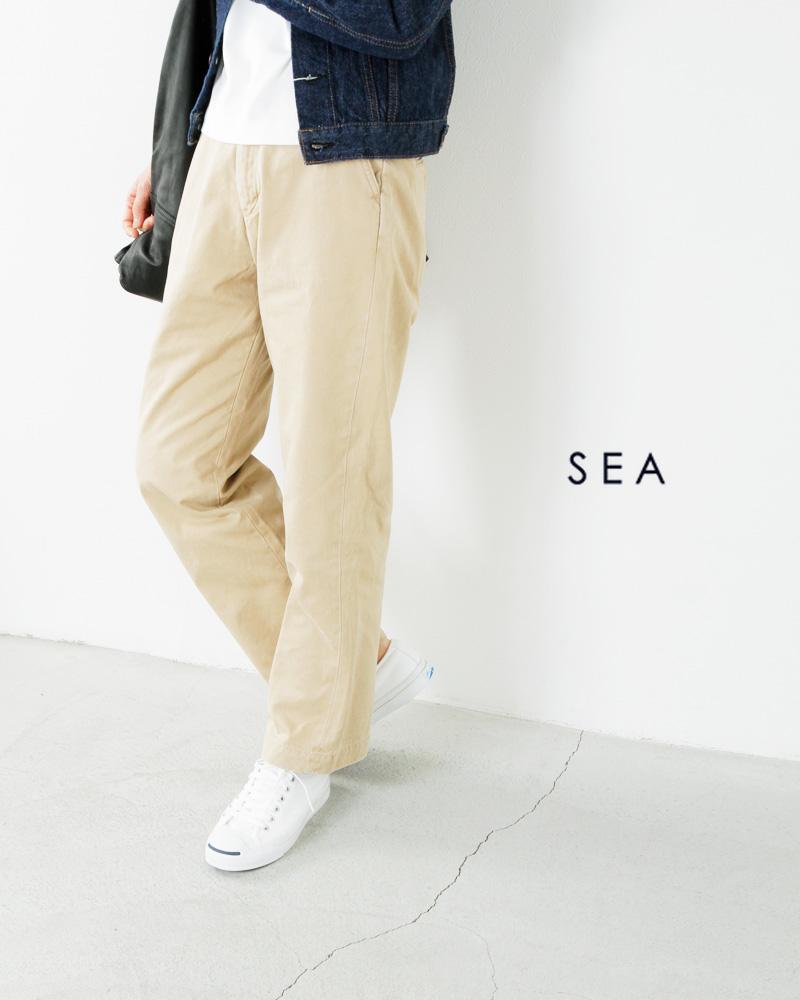 SEA(シー)VINTAGE877Hハイライズストレートセルヴィッチ尾錠付チノパンツ110115103