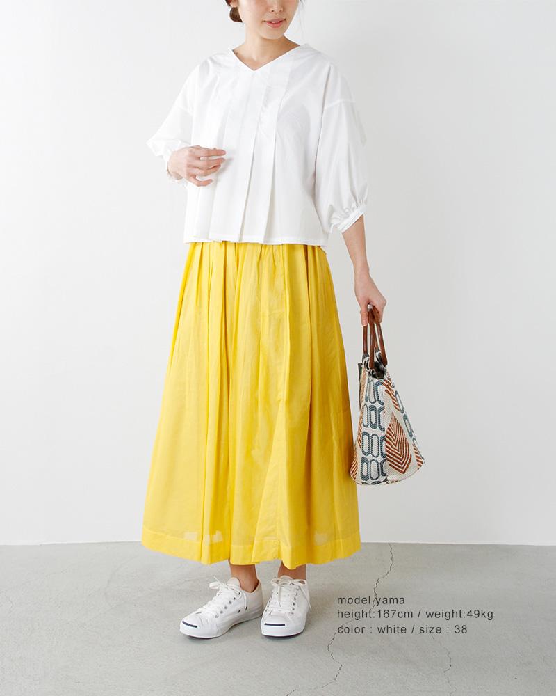 ina(イナ)aranciato別注コットン2wayタックブラウス164130