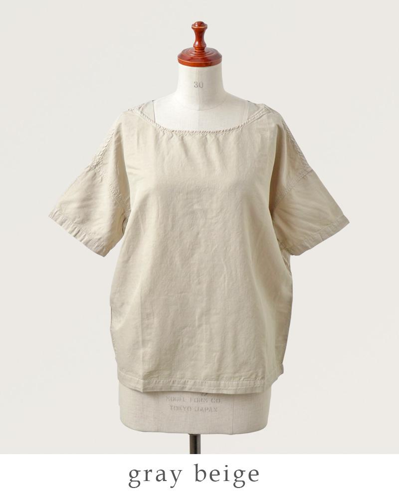 DMG Brocante(ディーエムジー ブロカント)キュプラリネンツイルバトーシャツ 36-112t