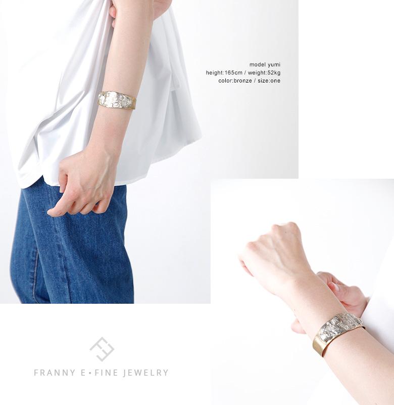 "FRANNY E・FINE JEWELRY(フラニーイーファインジュエリー)ブロンズ&シルバーバングル ""JACQUELINE CUFF"" fs5"