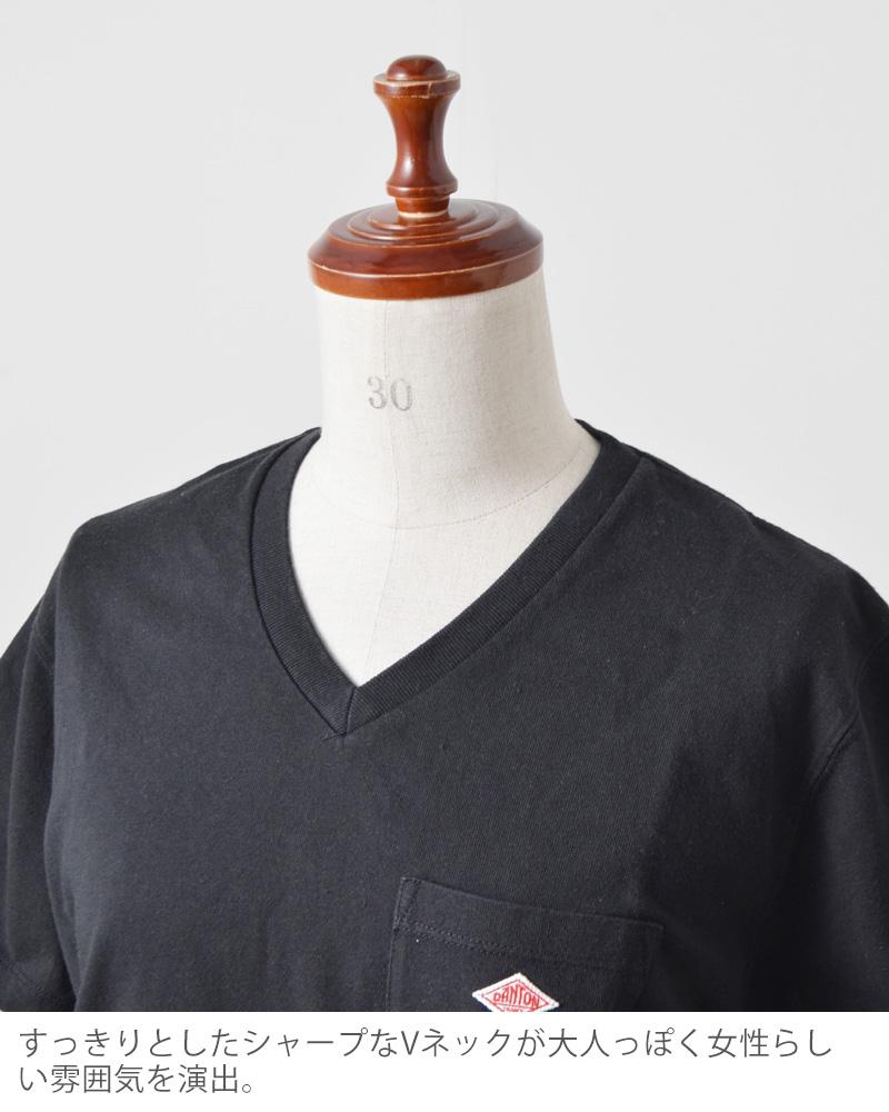 DANTON(ダントン)天竺コットンVネックポケットTシャツjd-9088