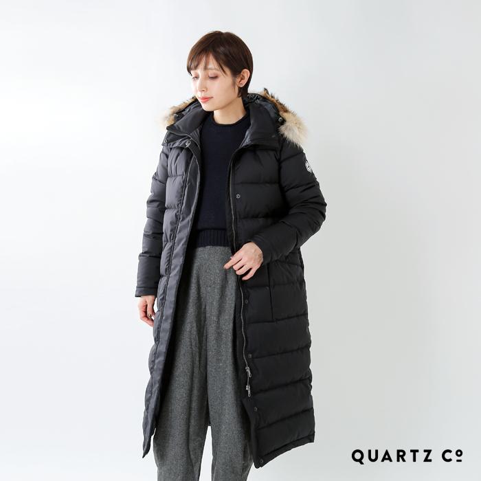 Quartz(クオーツ)ファー付きロングダウンジャケット 28722-ajna