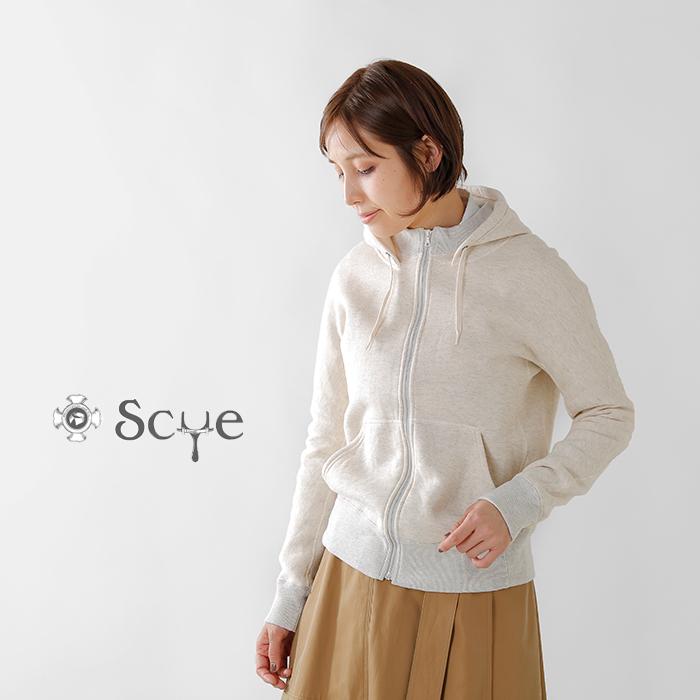 Scye(サイ)吊り裏毛起毛ジップアップフーディー5218-23578