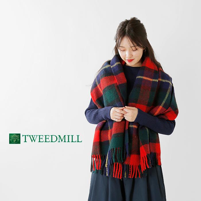 TWEEDMILL(ツイードミル)ピュアウールチェックブランケット70-183