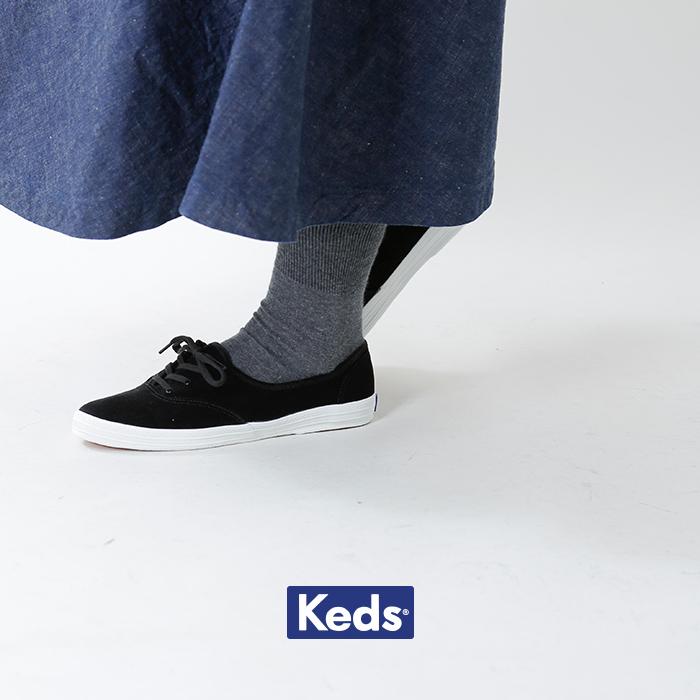 Keds(ケッズ)ベルベットロゴオックスフォードシューズ 861