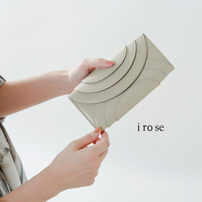 """irose(イロセ)ガラスカウレザーフォールド3フラップウォレット""""FOLD 3F WALLET"""" acc-f01-37000"""