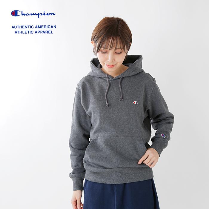 Champion(チャンピオン)ロゴ刺繍プルオーバーフーディースウェットシャツc3-c125