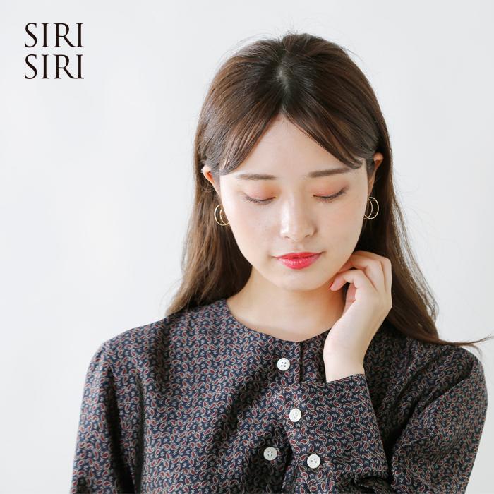 "SIRISIRI(シリシリ)ラウンド型ゴールドピアス""Pierce LINE ROUND"" cp301"