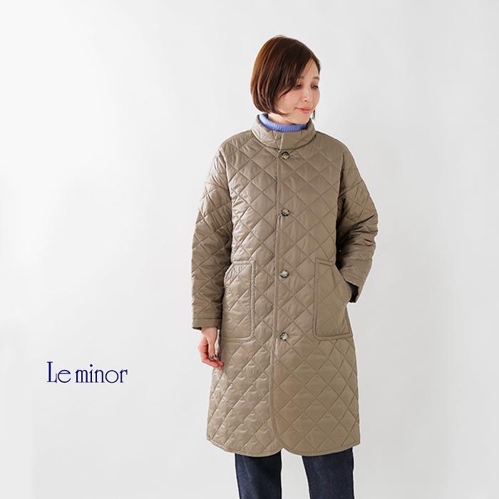 Leminor(ルミノア)aranciato別注高密度タフタキルティングスタンドカラーコートel35814