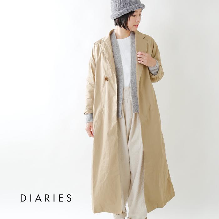 DIARIES(ダイアリーズ)コットンワンボタンオープンコート l41801