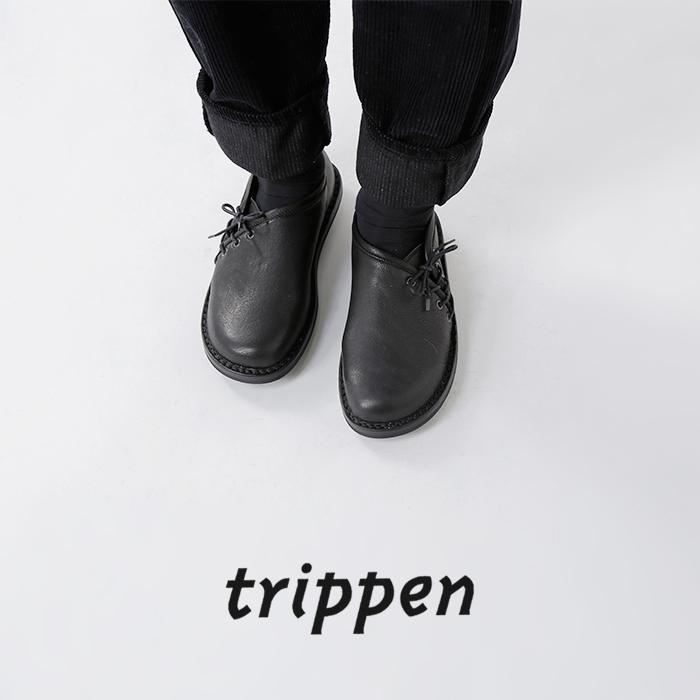 trippen(トリッペン)カウソフトレザーサイドレースアップシューズ offspring-vst82